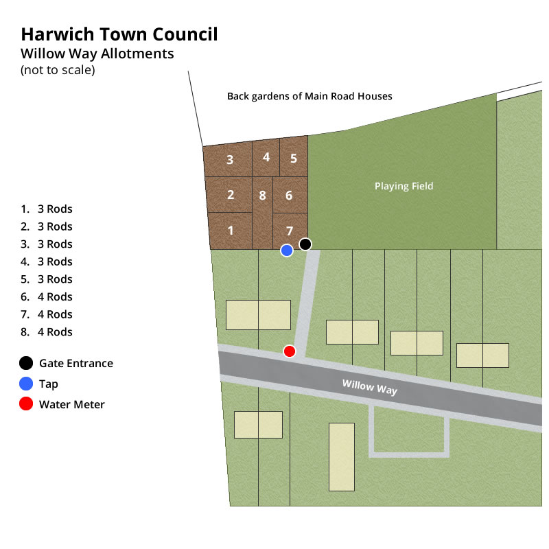 Willow Way allotments plan, Harwich