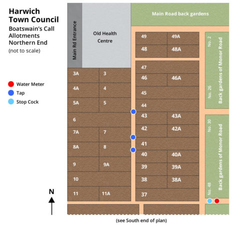 Boatswains Call North Allotment Map - Harwich Town Council