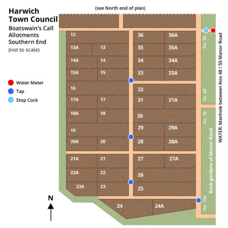 Boatswains Call South Allotment Map - Harwich Town Council
