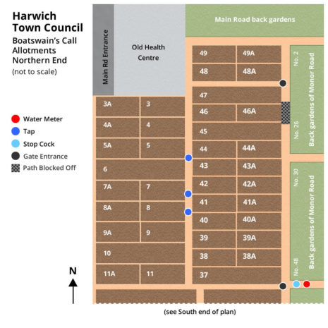 Boatswain's Call North End Allotment Map - Harwich Town Council