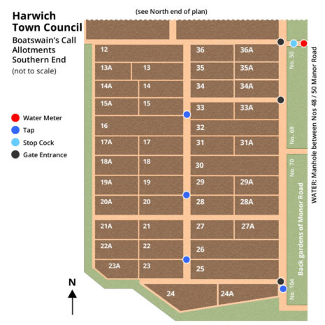 Boatswain's Call South End Allotment Map - Harwich Town Council
