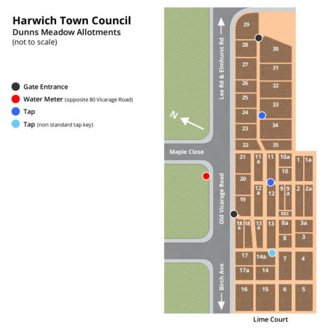 Dunns Meadow Allotment Map - Harwich Town Council